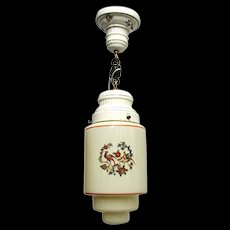 Light for Ceiling Porcelain and Glass Pendant Light Or Hanging Lamp Ceiling Light Fixture