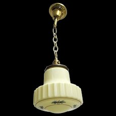 Hanging Lamp Ceiling Light Fixture Custard Glass Pendant Lamp
