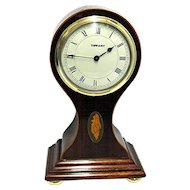 Tiffany Inlaid French Balloon Mantle Clock