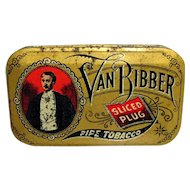 Van Bibber Sliced Plug Tobacco Advertising Tin