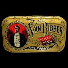 Van Bibber Sliced Plug Tobacco Advertising Tin