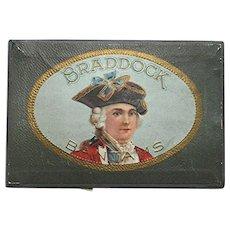 Braddock Pocket Advertising Cigar Box MINT