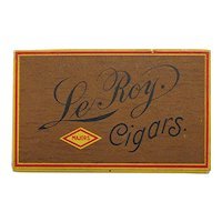 Le Roy Advertising Pocket Cigar Box Mint