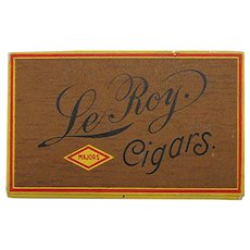 Le Roy Advertising Pocket Cigar Box