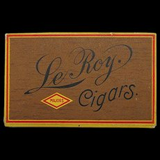 Le Roy Advertising Pocket Cigar Box