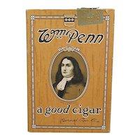 Pocket Advertising Cigar Box By William Penn