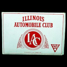 Advertising Pocket Cigar Box Illinois Automobile Club
