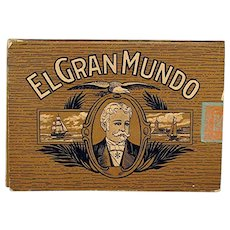 SOLD   See others for SALE   El Gran Mundo Advertising Pocket Cigar Box