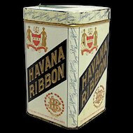 Havana Ribbon Advertising Cigar Tin
