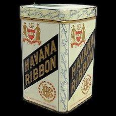 Havana Ribbon Advertising Cigar Tin