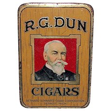 R. G. Dun Advertising Pocket Cigar Tin