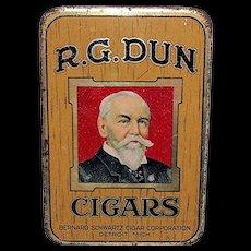 R. G. Dun Advertising Pocket Cigar Tin