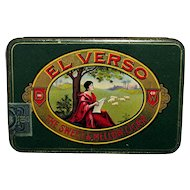 El Verso Pocket Advertising Cigar Tin