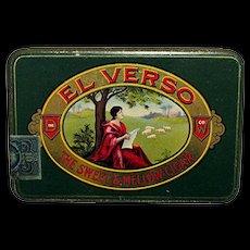 El Verso Pocket Advertising Cigar Tin