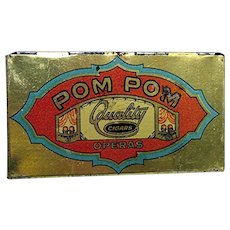 POM POM Pocket Advertising Cigar Tin