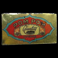 POM POM Pocket Advertising Cigar Tin