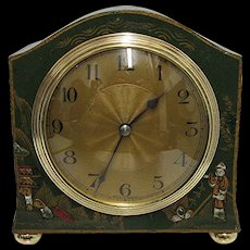 SOLD   See others for SALE   French Chinoiserie Mantel Clock 100% Original and Restored - Red Tag Sale Item