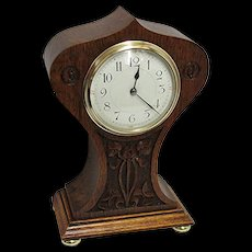 French Hand Carved Balloon Clock 100% Original and Fully Restored
