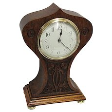 SOLD   See other clocks for SALE    French Hand Carved Balloon Clock 100% Original and Fully Restored