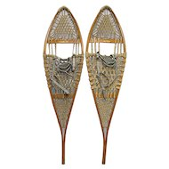 L.L. Bean Wood Pair of Snowshoes