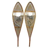 L.L. Bean Wood Pair of Snowshoes