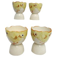 Egg Cups Set of Four Double Ended Circa 1920