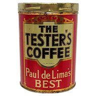 Coffee Tin Advertising The Tester's Coffee