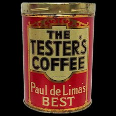 Coffee Tin Advertising The Tester's Coffee