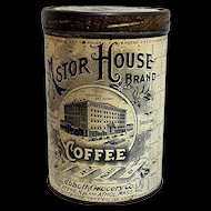 Astor House Advertising Coffee Tin