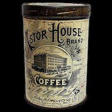 Astor House Advertising Coffee Tin
