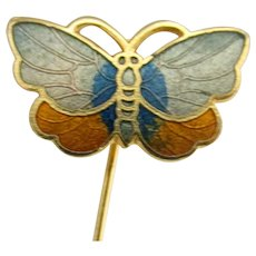 Stick Pin Cloisonne Style Butterfly Head
