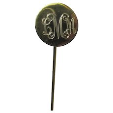 "Stick Pin Monogrammed LMM 2 ½"" Stickpin"