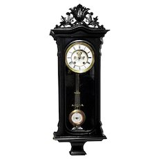 ANTIQUE Lenzkirch Visible Escapement Wall Clock