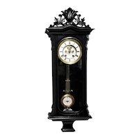 Lenzkirch Visible Escapement Antique Wall Clock