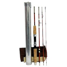 Travel Fly Rod or Spin Rod 4 Piece Fishing Rod with Tube