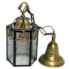 SOLD  Pair  Antique Hanging Lamp Fixture