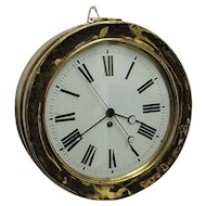 Brass Station Wall Clock with Center Sweep Second Hand