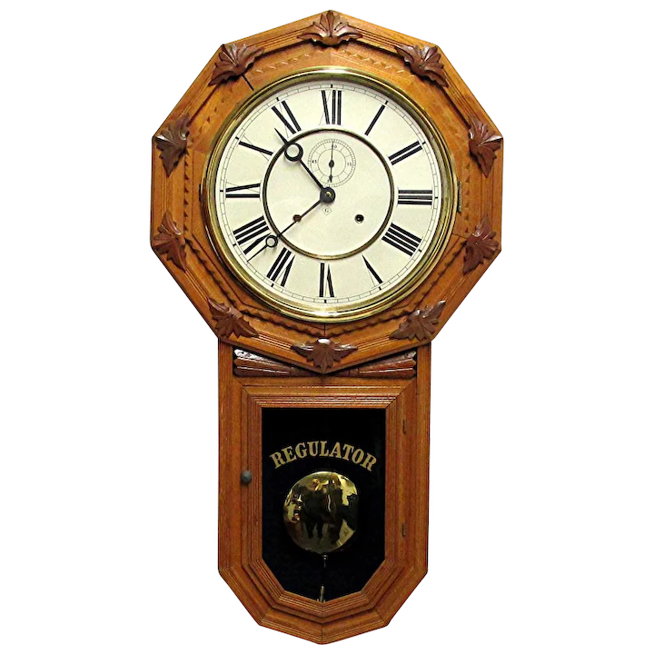 Wall Regulator By Wm Gilbert Clock