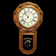 Antique Clock Wall Regulator by Wm. Gilbert Clock Co. Restored to Original Condition