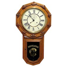 Antique Clock Wall Regulator by Wm. Gilbert Clock Co. Restored to Original Condition