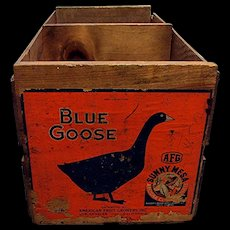 Blue Goose Advertising Wood Box or Crate