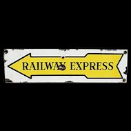 Porcelain Railway Express Advertising Sign Original