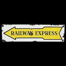 Porcelain Railway Express Advertising Sign Original