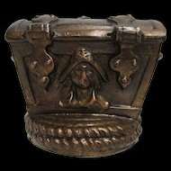 Bank Pirates Chest Cast Metal Bank