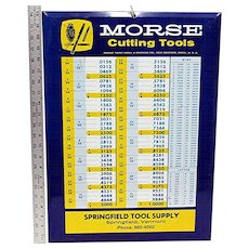 SOLD   SEE other signs for sale  Hardware Store Advertising Tool Sign MORSE Cutting Tools  New Bedford Mass.