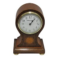 Antique Mantel Clock Inlaid Balloon Mantle Clock Tiffany Runs and Keeps Correct Time