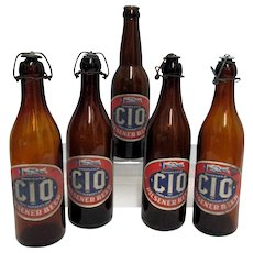 Advertising Beer Bottle CIO Pilsener Beer From The Tube City Brewing Co. Pennsylvania