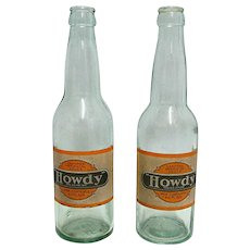 Advertising Howdy Soda Bottle Circa 1920