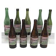 Advertising Soda Bottle Blackhawk Brand Rock Island Illinois Ginger Ale