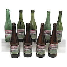 Ginger Ale Soda Bottle Blackhawk Brand Rock Island Illinois